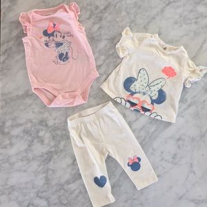 EUC GAP Minnie bundle size 3-6 months